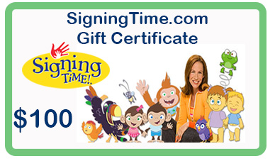 100 gift certificate gift certificates baby sign language