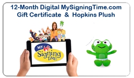 12-Month Digital MySigningTime.com & Baby Hopkins Plush