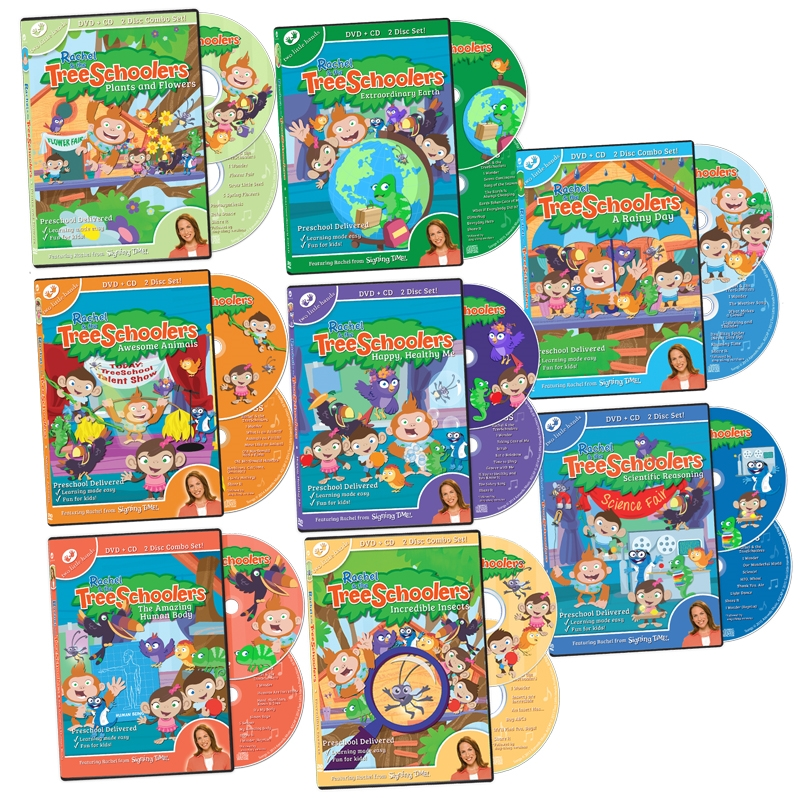 TreeSchoolers Complete DVD+CD Set