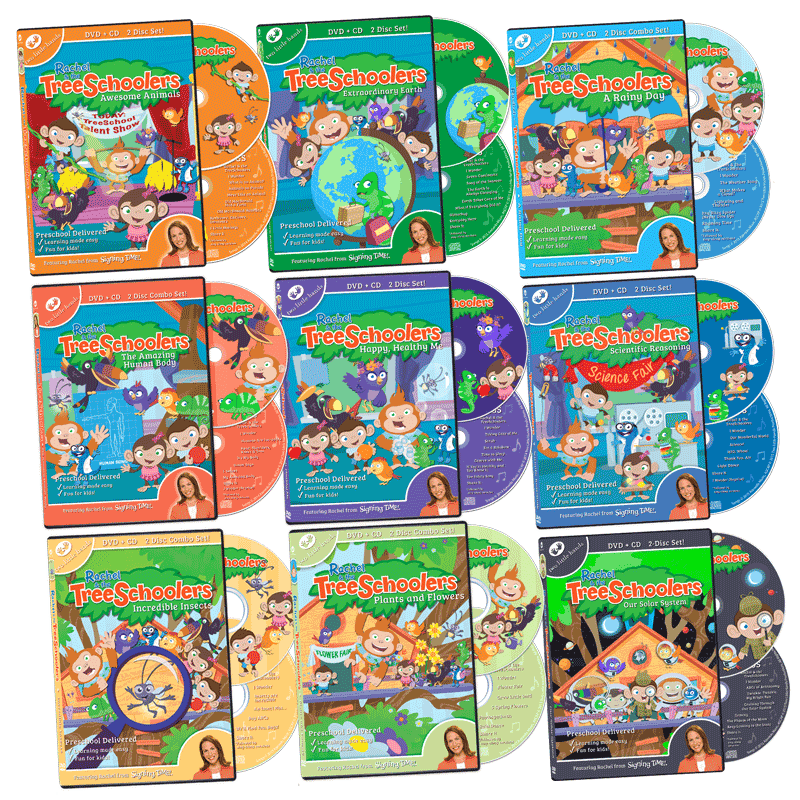 TreeSchoolers Complete DVD+CD Library Set