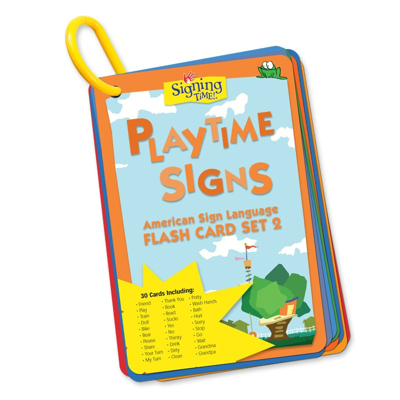 Flash Card Set 2: Playtime Signs