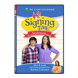 Signing Time Sentences 1: Let's Get Started - DVD ASL, Sign Language, Baby Sign Language, Kids ASL, Kids Sign Language, American Sign Language