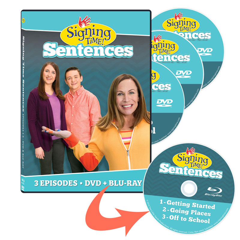 Signing Time Sentences: Vol. 1-3 Complete Set (Blu-ray/DVD