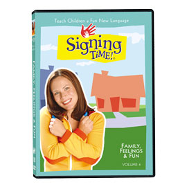 Series One Vol. 4: Family, Feelings & Fun - DVD ASL, Sign Language, Baby Sign Language, Kids ASL, Kids Sign Language, American Sign Language