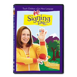 Series One Vol. 8: The Great Outdoors - DVD ASL, Sign Language, Baby Sign Language, Kids ASL, Kids Sign Language, American Sign Language
