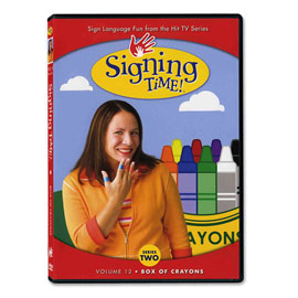 Series Two Vol. 12: Box of Crayons - DVD ASL, Sign Language, Baby Sign Language, Kids ASL, Kids Sign Language, American Sign Language