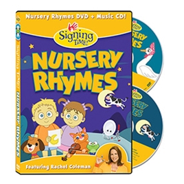 Signing Time Nursery Rhymes DVD ASL, Sign Language, Baby Sign Language, Kids ASL, Kids Sign Language, American Sign Language