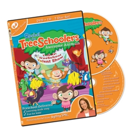 TreeSchoolers 4: Awesome Animals - DVD/CD ASL, Sign Language, Baby Sign Language, Kids ASL, Kids Sign Language, American Sign Language