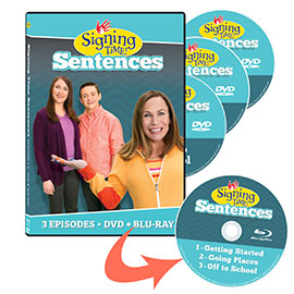 Signing Time Sentences: Vol. 1-3 Complete Set (Blu-ray/DVD)