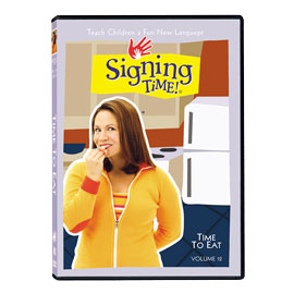 Series One Vol. 12: Time to Eat - DVD ASL, Sign Language, Baby Sign Language, Kids ASL, Kids Sign Language, American Sign Language