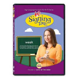 Series Two Vol. 6: Days of the Week - DVD ASL, Sign Language, Baby Sign Language, Kids ASL, Kids Sign Language, American Sign Language