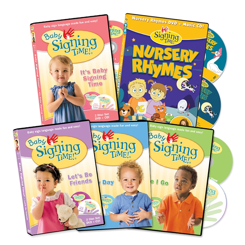 Baby Signing Time 5 Volume DVD Collection ASL, Sign Language, Baby Sign Language, Kids ASL, Kids Sign Language, American Sign Language