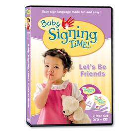 Baby Signing Time 4: Lets Be Friends - DVD/CD  ASL, Sign Language, Baby Sign Language, Kids ASL, Kids Sign Language, American Sign Language