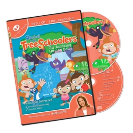 TreeSchoolers 5: The Amazing Human Body - DVD/CD ASL, Sign Language, Baby Sign Language, Kids ASL, Kids Sign Language, American Sign Language