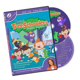 TreeSchoolers 6: Happy Healthy Me - DVD/CD ASL, Sign Language, Baby Sign Language, Kids ASL, Kids Sign Language, American Sign Language